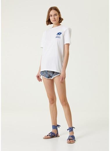 Etro Etro  Bisiklet Yaka Logolu T-shirt 101618490 Beyaz